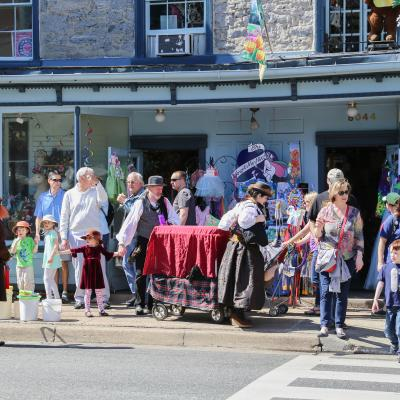 Lower Main Street during Spring Fest in Old Ellicott City