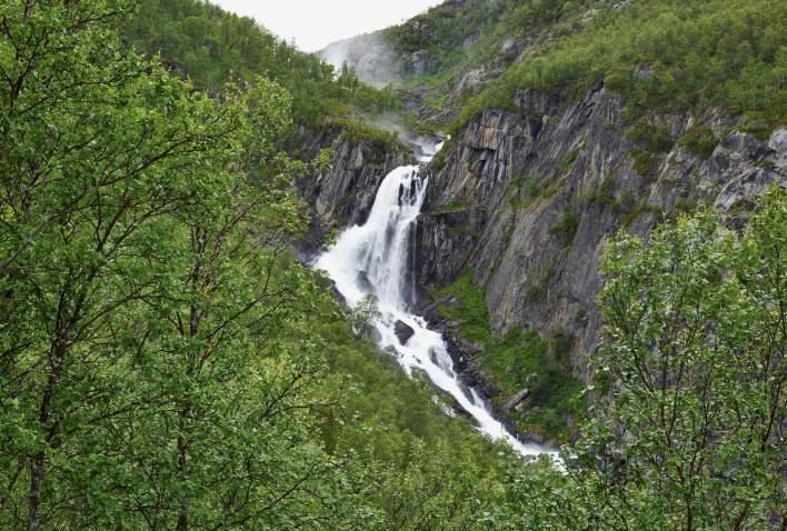 Hivjufossen waterfall