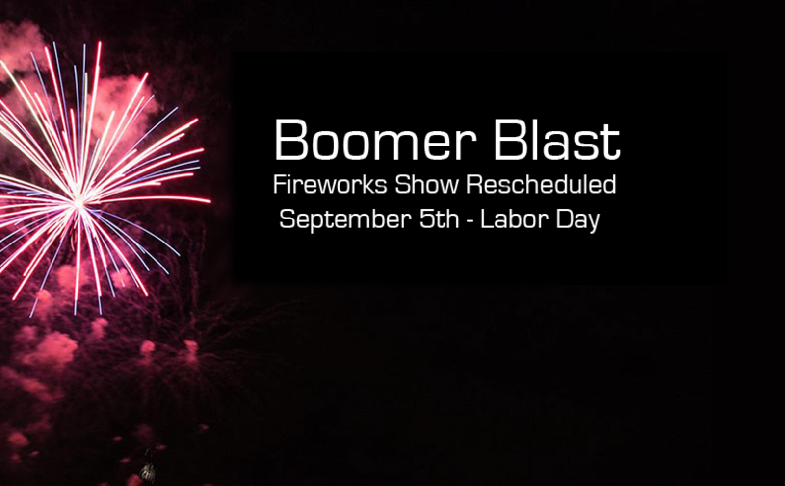 Boomer Blast Rescheduled