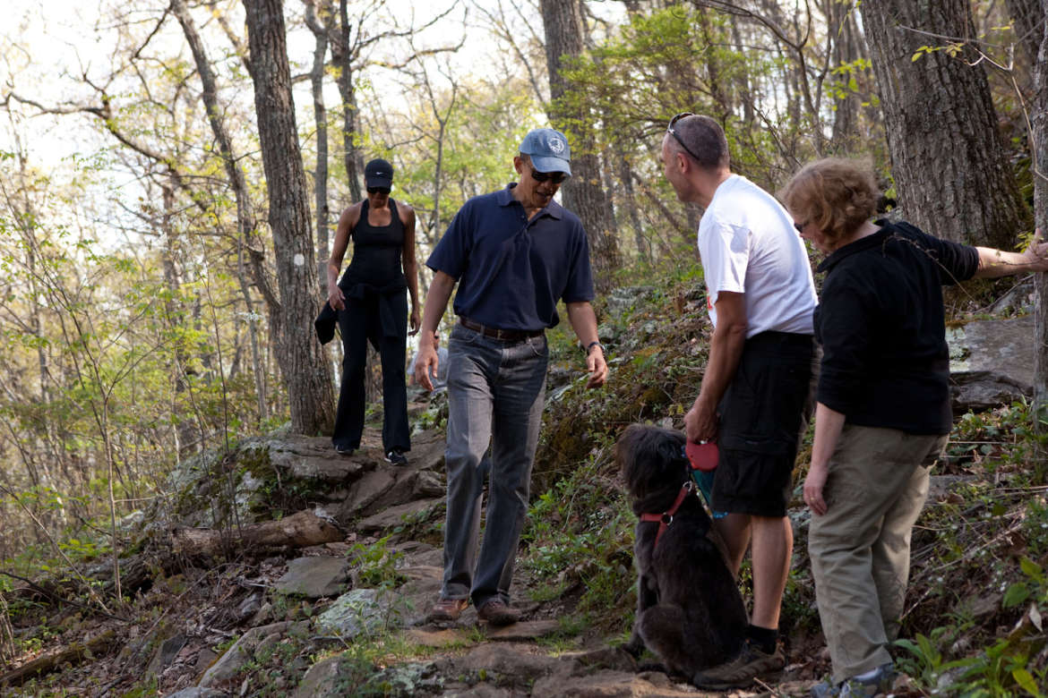 Obamas Hiking Craven Gap