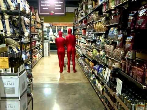 Red Spandex Aliens Invade Greenlife