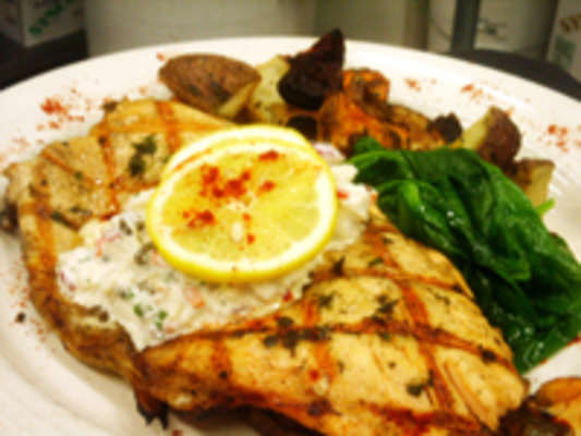 Trout with Crab Remoulade