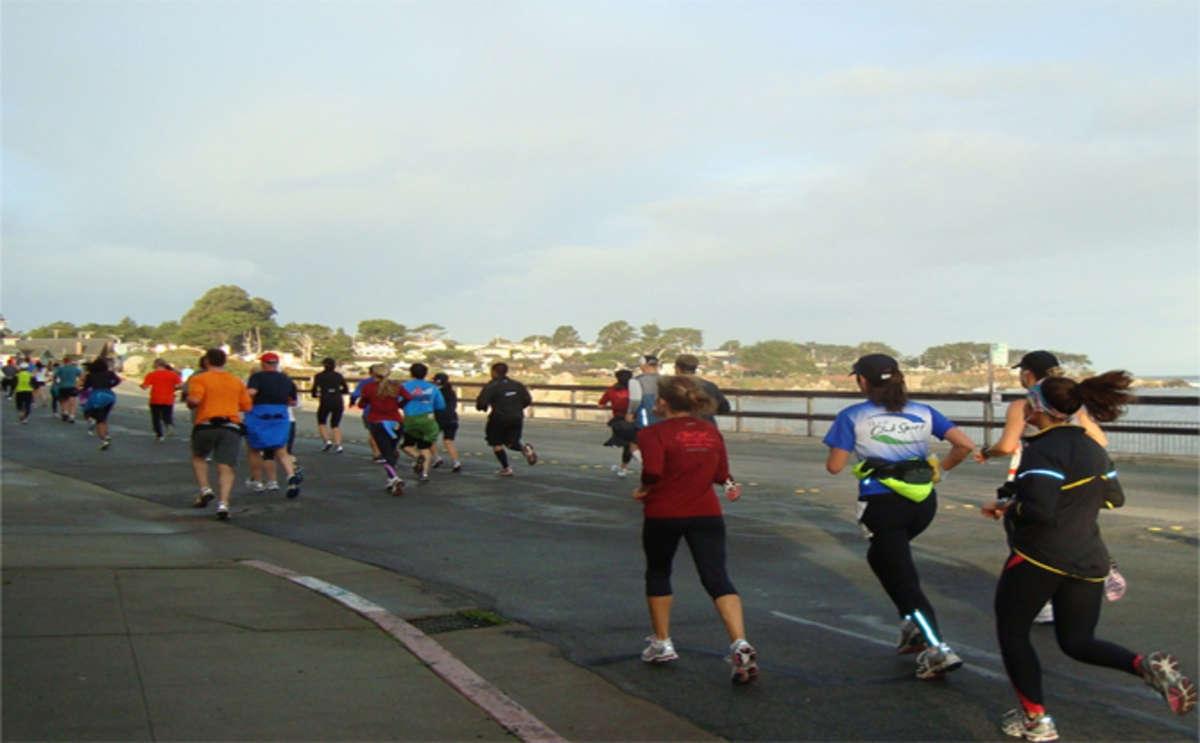 Runners along Monterey County's coastline