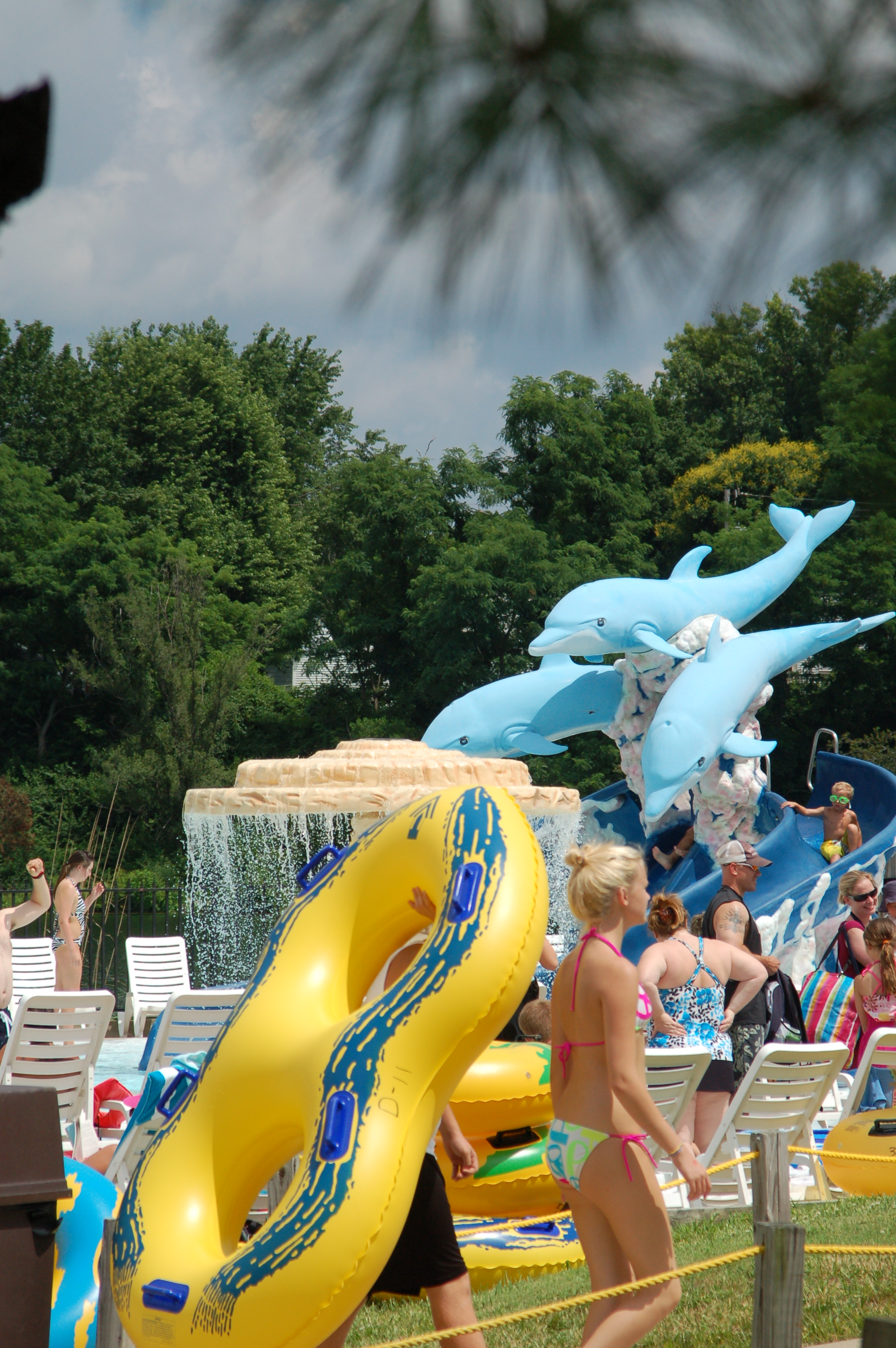 Dolphion slide at Atlantis Water Park