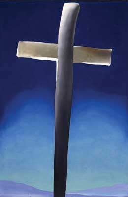 Georgia Okeeffe Grey Cross