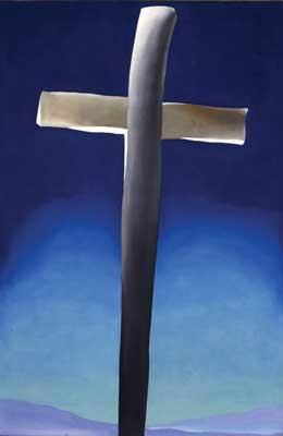 Georgia Okeeffe Grey Cross