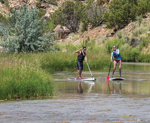 Paddleboarding on the Chama