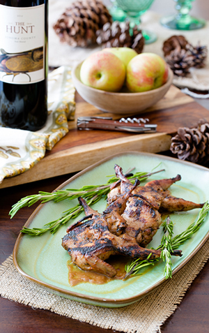 Grilled Quail with Apple Butter Barbecue Sauce | ExploreAsheville.com