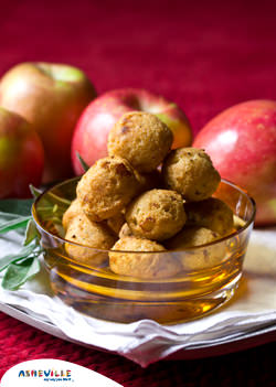 Apple Stuffed Hush Puppies #Recipe | ExploreAsheville.com