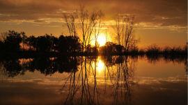 Sunset Menindee Lake.