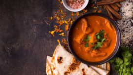 Butter chicken is delicious.