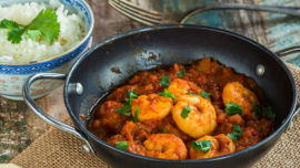 Tangy and lip-smacking prawns with tamarind.