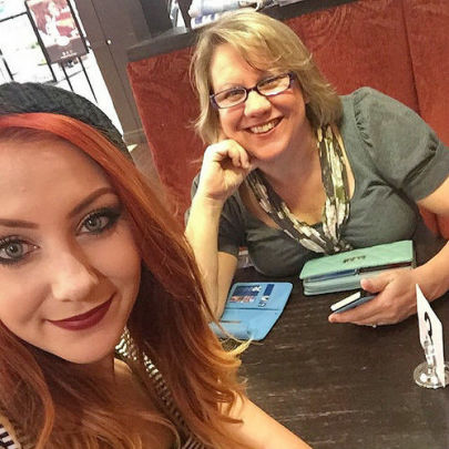 Delightful blogger Janet Camilleri, aka the Middle Aged Mama , with her gorgeous daughter.