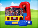 4in1 Super Heroes Bounce House w/ Wet or Dry Slide