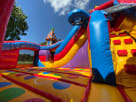 Inside the Midway Amusement Rode Park
