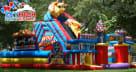 Amusement Park Bouncy House Combo Slide Dallas