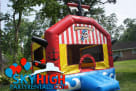 Pirate inflatable bounce castle