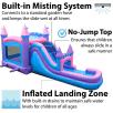 Pink Bounce House Moonwalk Slide