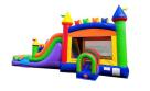Modern Rainbow Bounce House Combo