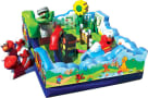 Side view of sesame street kids party inflatable