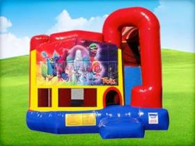 4in1 Trolls Bounce House w/ Wet or Dry Slide