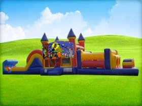 50ft Halloween Obstacle Course w/ Wet or Dry Slide