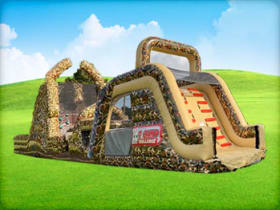 65ft Boot Camp Leap of Courage Obstacle with Double Dry Slide
