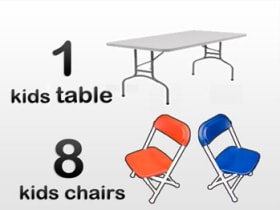 Children's table and chair rentals