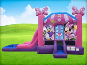 Minnie Mouse Wet and Dry Slide Bounce House
