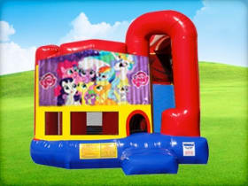4in1 My Little Pony Bounce House w/ Wet or Dry Slide