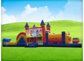 50ft Disney Princess Obstacle w/ Wet or Dry Slide