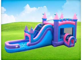 Mega Pink Bounce House Combo (Wet/Dry)