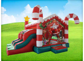 Christmas Candy Cane Bounce House Combo