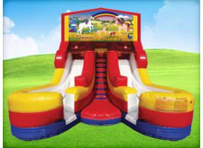 16ft Unicorn Double (Wet/Dry) Slide