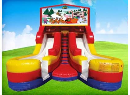 16ft Double Christmas Slides