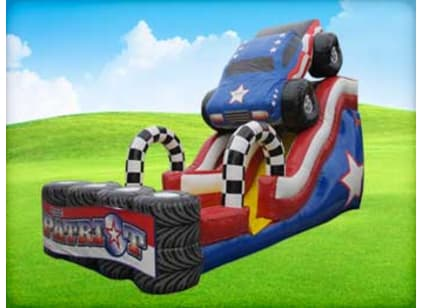 Wet Dry Inflatable Water Slide For Rent