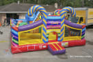 Front Candy Cane Entrance Inflatable