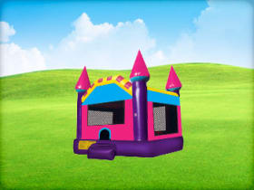 Pink Castle Tiny Bounce House