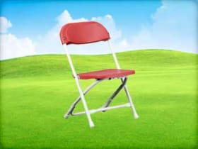 Kids Red Folding Chairs for rent