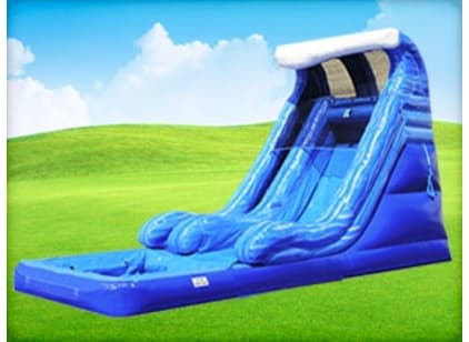 Blue White Inflatable Water Slide