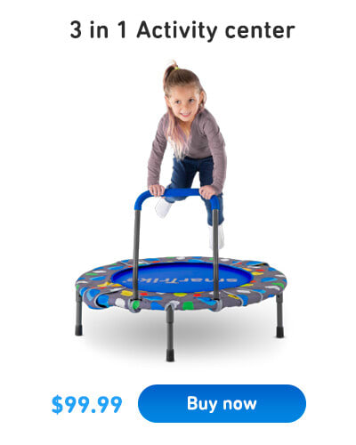 trampoline with handle