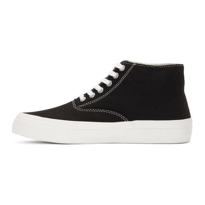 Comme des Garçons Homme Deux Black Canvas Mid-Top Sneakers ThM1u