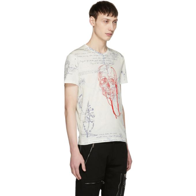 Fashion Style Cheap Price Black Skull Threads T-Shirt Alexander McQueen Geniue Stockist Sale Online Particular Owlyphb