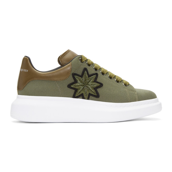 Best Seller Green Embroidered Oversized Sneakers Alexander McQueen Sale Factory Outlet Buy Cheap Wholesale Price Free Shipping Get Authentic 28Zl4PJ