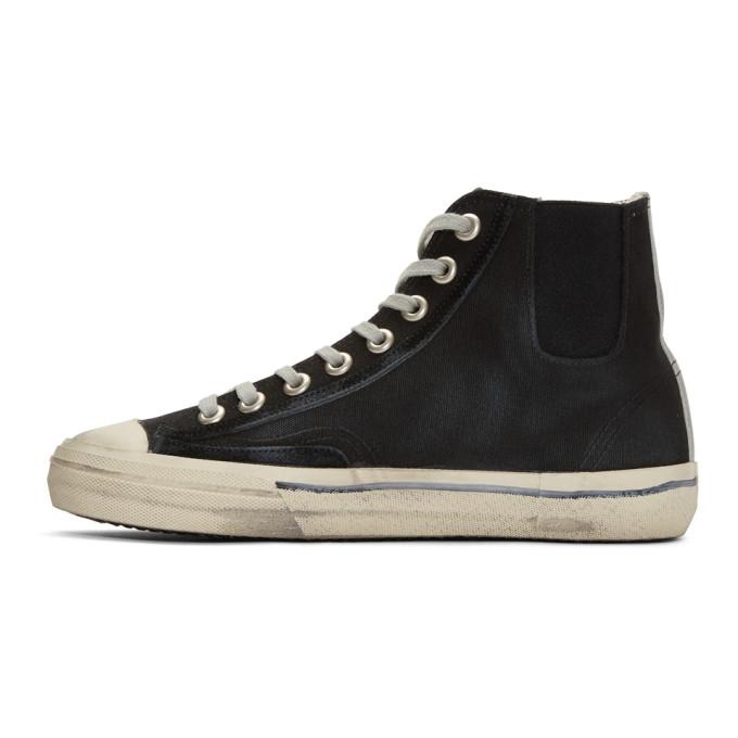 Valentino Black & Silver Scotch Tape V-Star High-Top Sneakers moWKmJVEJE