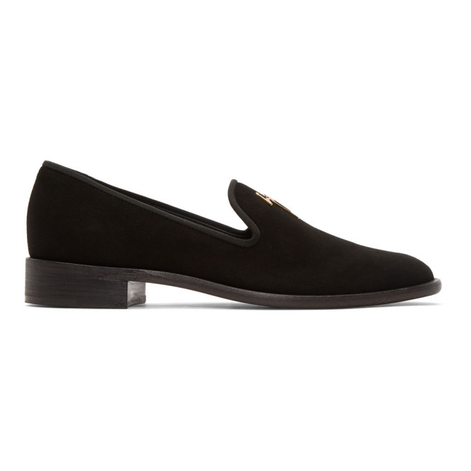 Thom Browne Black Suede Tyson Loafers VngoLbG7