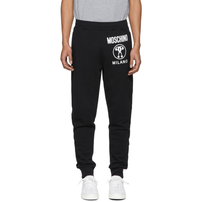 Wholesale Price Cheap Online Lowest Price Sale Online Black Logo Lounge Pants Moschino Free Shipping Cheap Cheap Sale Wholesale Price DuFjr