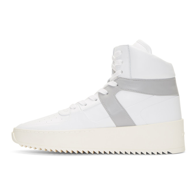 Basketball Panelled-leather High-top Sneakers - WhiteFear of God H38raAQGb