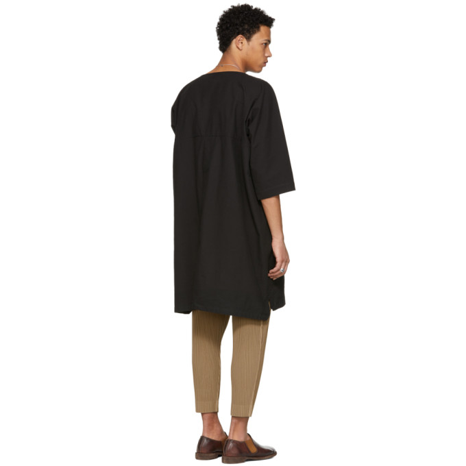 Noir Jan T jan Essche Tissé shirt Long Van dhsCQtr