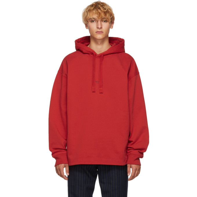 Jersey Red In Tomato Acne Studios Hoodie Oopback Cotton wCAnxPqHt1